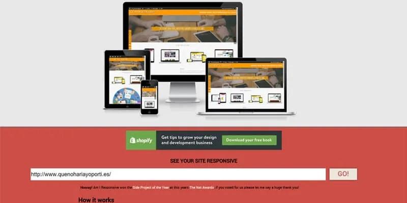amiresponsivedesign para comprobar diseño responsive