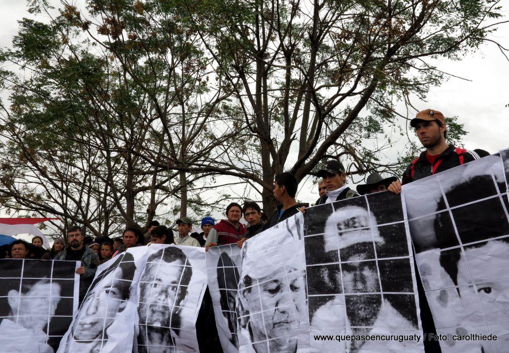 Acto de aniversario de la masacre en Marina kue. 15 de junio de 2013, Curuguaty