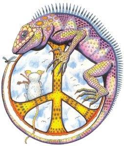 peace iguana