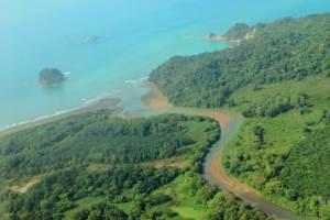 Light Hawk view of reforestation of the Rio Naranjo Biological Corridor