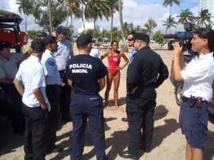 Quepos Law Enforcement Delegation on the Beach of Fort Lauderdale