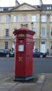 England's pillar post boxes.