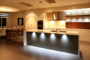 modern kitchen with amazing accent lighting