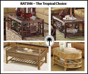Rattan coffee tables