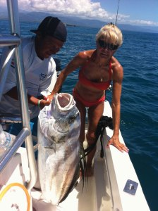 Patti & her Rooster fish