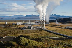Geothermal plant in foothills of Volcan Rincon de la Vieja