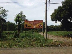 Sign for the new Hogar de Ancianos