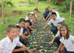 school children volunteers