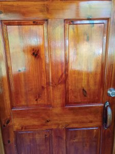 Stained gmelina door