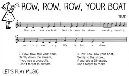 Row row row your boat music sheet
