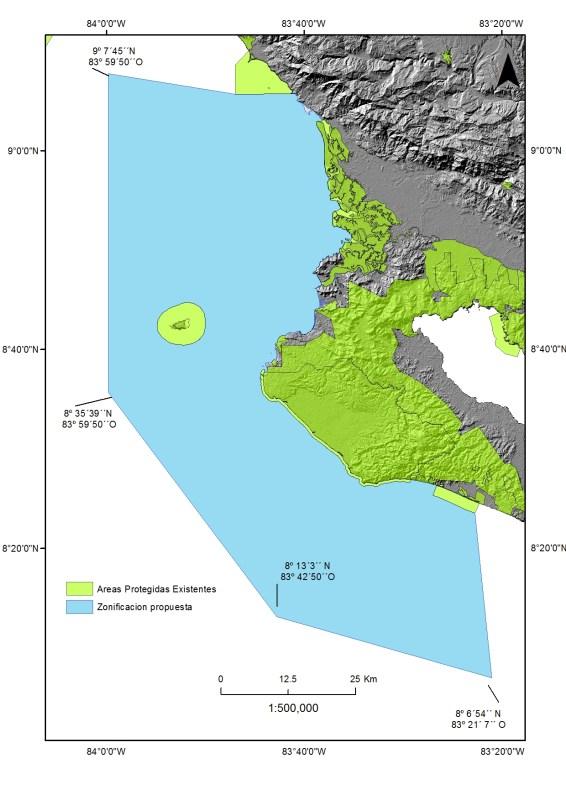 Osa Marine Reserve Boundary