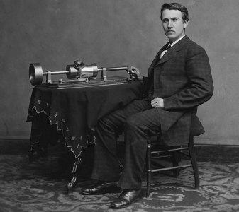 Edison and his phonograph