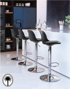 Bar stools at a counter