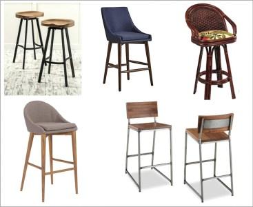 Variety of bar stools