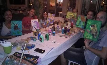 Karma with KSTR volunteers painting