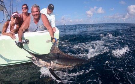 Man releasing a marlin
