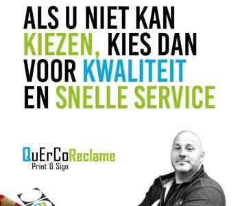 Als u niet kan kiezen, kies dan voor kwaliteit en snelle service