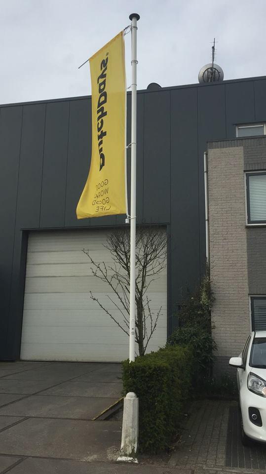 De banieren van Dutch Days in Harderwijk