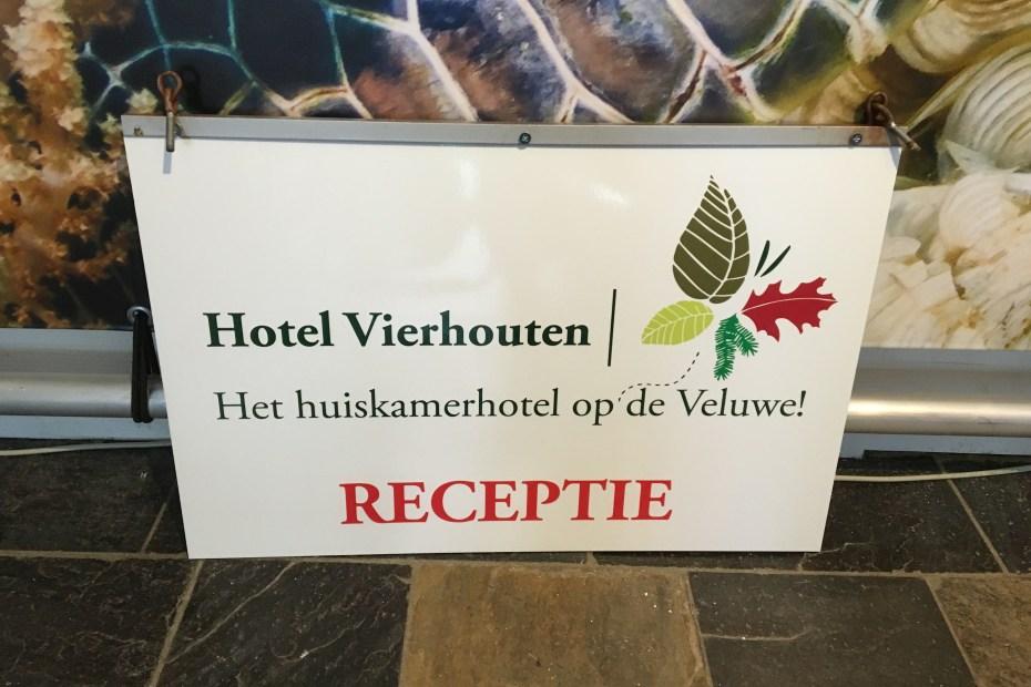 Welkomstbord Hotel Vierhouten