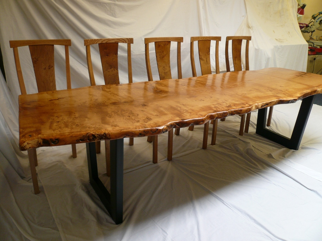 Handmade Oak Dining Table And Chairs