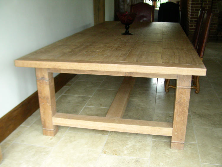 16 Seater Handmade Refectory Kitchen Table In White Oak