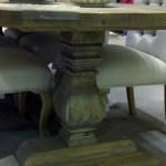 Handmade Table with Bulbous Leg