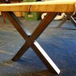 Beautiful oak slab dining table