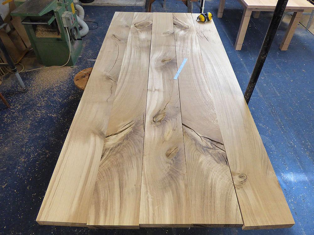 Large Bespoke Handmade Oak Table Top