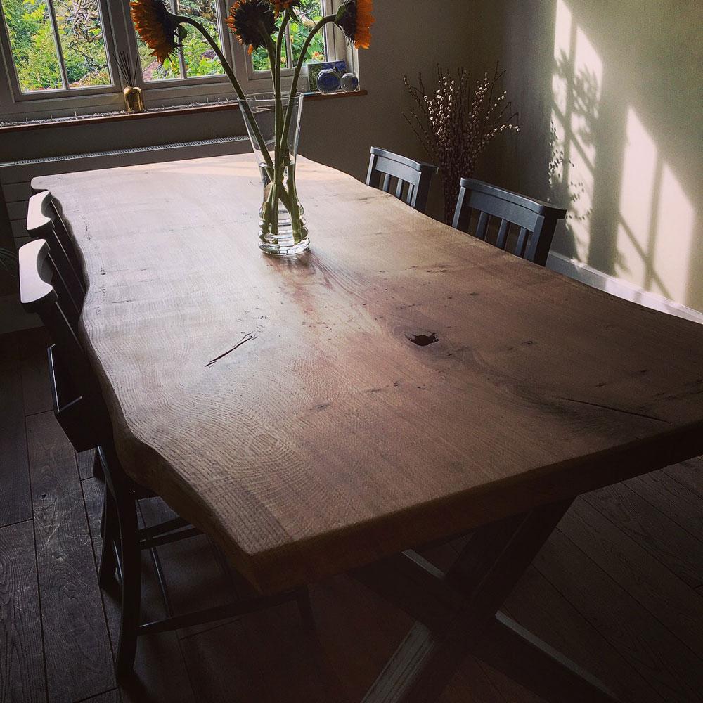 Bespoke Live Waney Edge Single Slab Dining Table