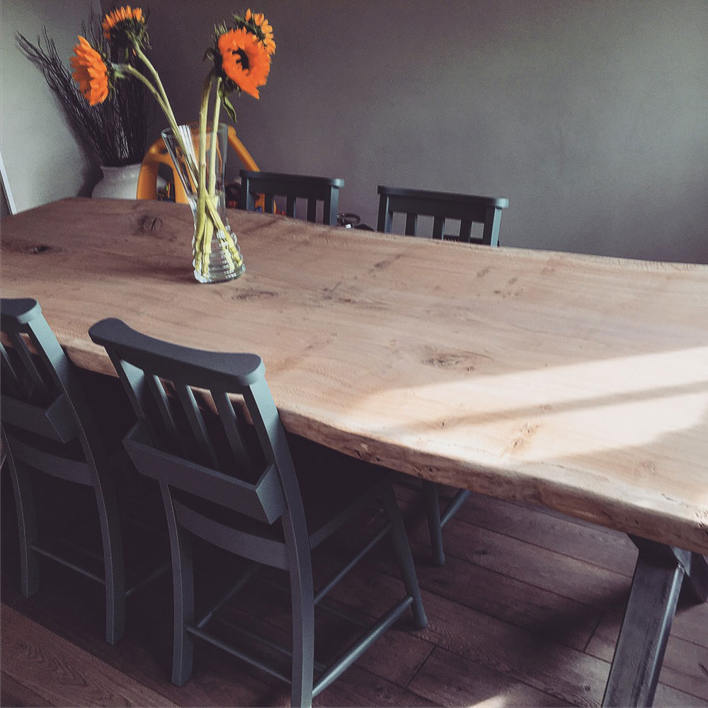 Bespoke Waney Edge Handmade Dining Table