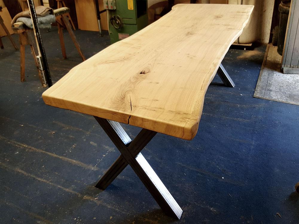 Single Slab Waney Edge Table Work in Progress