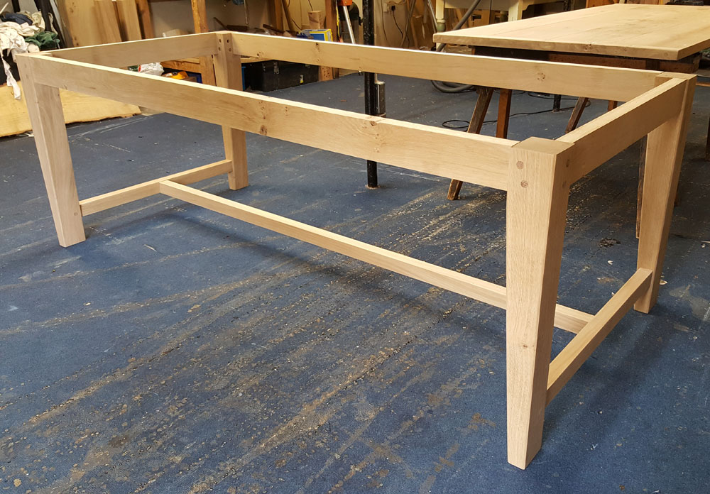 Oak Handmade Dining Table Base