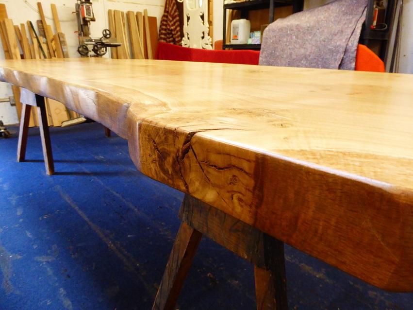Live Waney Edge Oak Table