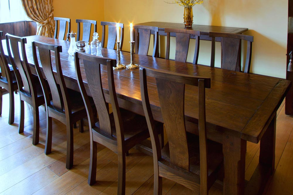 Bespoke Refectory Table and Chairs