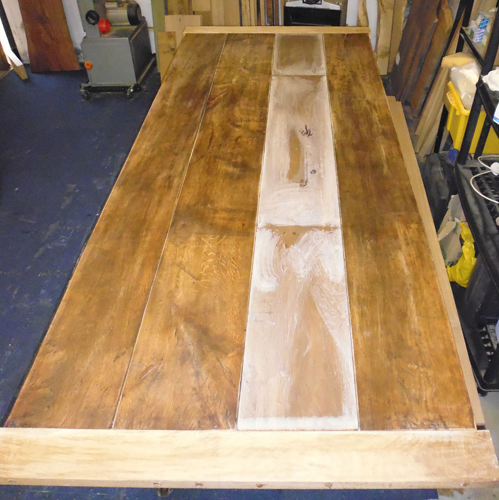 Restoring Antique Refectory Table