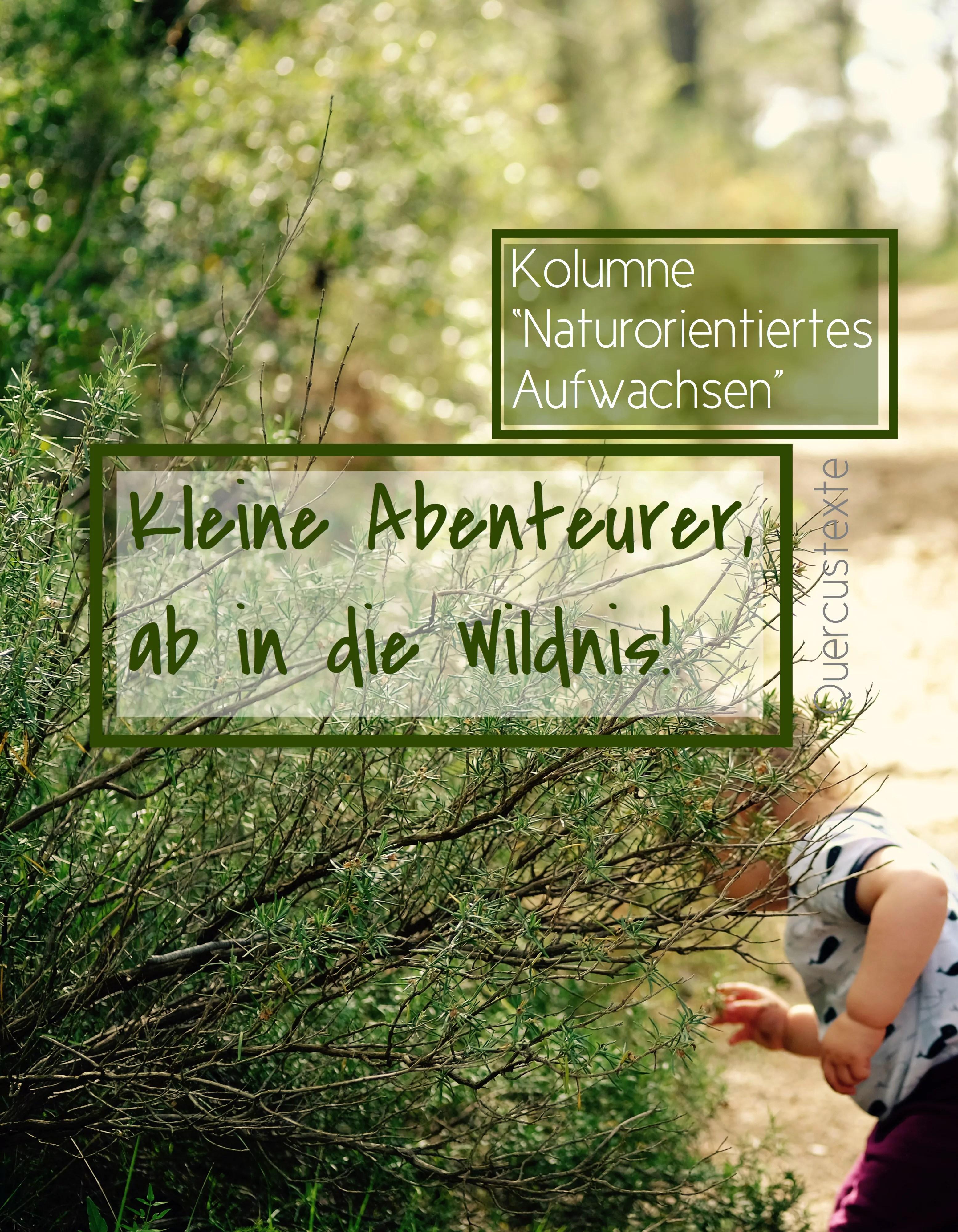 """""""Naturorientiertes Aufwachsen"""" – neue Kolumne startet heute"""