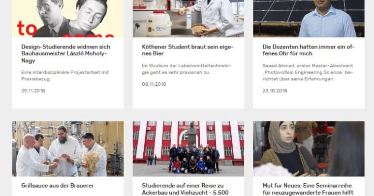 Pressearbeit für die Hochschule Anhalt