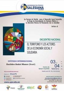 ENCUENTRO: EL TERRITORIO Y LOS ACTORES DE LA ECONOMÍA SOCIAL Y SOLIDARIA @ Centro de Apoyo Cayambe