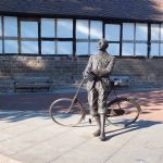 Edward Elgar in the Hereford Cathedral Close