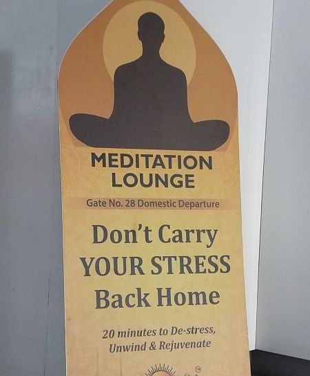 Hyderabad Airport Meditation