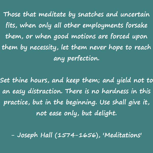 Joseph Hall - meditation