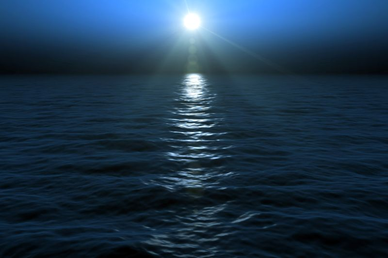 Moon on  water