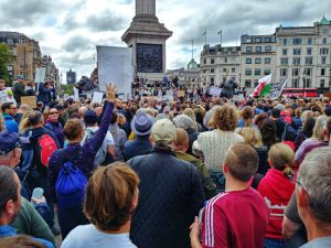 Anti-Lockdown Protest, Trafalgar Square