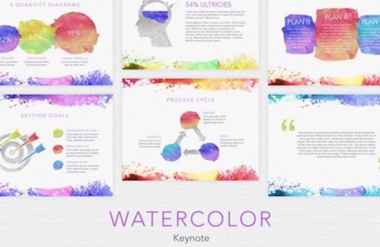 watercolor-keynote-template