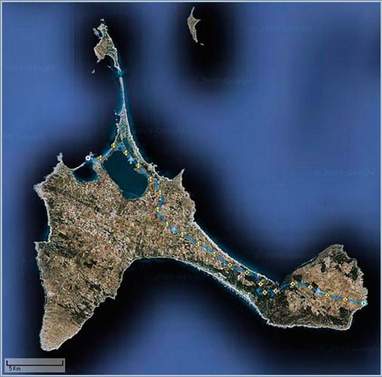 MEDIA MARATON FORMENTERA mapa-km