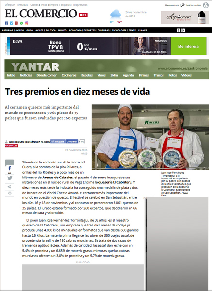 Nota de Prensa World Cheese Awards El Cabriteru