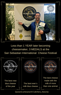 cheese maker medals World Cheese Awards