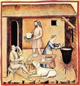 Tacuinum-Sanitatis el queso en la Edad Media