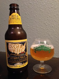 Myron's Walk is a Belgian-style pale ale brewed with coriander.