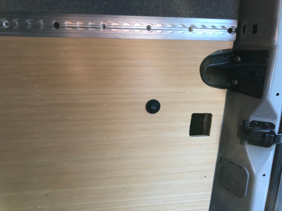 Existing light switch in the rear panel.
